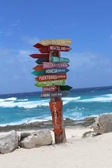 IMG_6613 (AndyMc87) Tags: sign distance beach wave sky blue ocean water canon eos 6d 2470 l isla cozumel island ufer strand