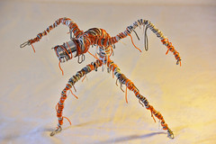 upcycling metal and wire sculpture Mummy (Vortex67) Tags: art metal handmade toy wire sculpture recycled robot craft momie mummy cyclope cyclop