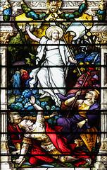 Easter Monday (Lawrence OP) Tags: biblical resurrection paloalto stpatricks seminary chapel stainedglass soldiers women emptytomb jesuschrist