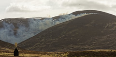 Heather burning north of Glenshee (simpaticoltd) Tags: outdoor heather burning controlled fires scotland landscape game birds shooting season