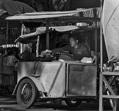 Cooking (Beegee49) Tags: street vendor cooking fried chicken silay city philippines