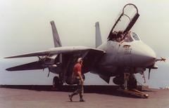 F14A+ VF24 USS Nimitz 30 Apr 91 (ralph.fiona) Tags: f14a vf24 ussnimitz firstgulfwar