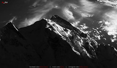 Last Light @ Mother of Mist (AQAS.Clicks) Tags: hunza gilgit kkh mountains clouds light landscape history nature colors hill mountainside indus rakaposhi karakoram eaglesnest duikar pakistan aqas glgit blackwhite monochrome concordians