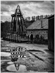 Wet day at the minehead (Hugh Stanton) Tags: mine minehead shaft wheel house reflections appicoftheweek