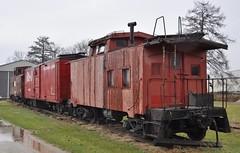 Coldwater, Michigan ( 1 of 10) (Bob McGilvray Jr.) Tags: coldwater mi michigan caboose steel cupola boxcar bo baltimoreohio nw norfolkwestern littleriverrailroad railroad train tracks