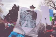 weeping liberty (FADICH PHOTOGRAPHY) Tags: science march themarchforscience 2017 april earthday earth day lisaparshley activism protest olympia washington environmentalism gogreen clean energy vote womenofscience climatechange climate change global warming poverty war drought resourcescarcity