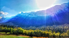 Sunbathed mountains (Laurène Sommacal) Tags: rhônealpes vercors mountains france frenchalps peaks hdr sun sunrise sunshine laurènesommacal landscape countryside panorama panoramic