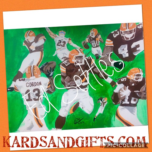 Check out these paintings. Available at KARDSandGifts.com #wine #clevelandbrowns #cleveland #browns #art #paintings #jordan #michaeljordan #mj #basketball #football