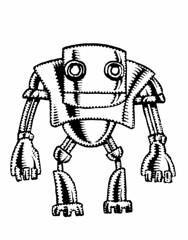 Chrome robot (Don Moyer) Tags: robot chrome ink drawing sketchbook moyer donmoyer brushpen doodle