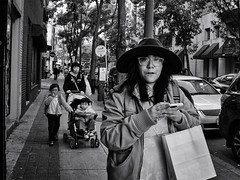 china town philadelphia (2016) (Thrift Store Camera) Tags: philadelphia philly street photographer photo journal woman cool hat glasses