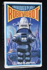 Robby The Robot Wind-Up Box (Masudaya 1984) (Donald Deveau) Tags: robby robbierobot sciencefiction toys toyphotography vintagetoy japanesetoy masudaya windup forbiddenplanet