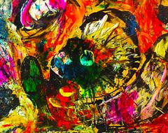 fredy holzer (Fredy Holzer ART) Tags: oleo arte tinta expresionismo acrílico textura contemporáneo moderno pasta holzer fredyholzer painter abstrakt kunst retrato portrait face soledad dolor angustia emotion mente mind pensamiento real color arts eye impresionismo oil canvas tela red green yellow