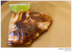Broiled Fish (mlofenfeld {Michael Lofenfeld Photography}) Tags: lemon may lime culinary 2013 canon50d broiledfish photographymichaellofenfeldallrightsreserved