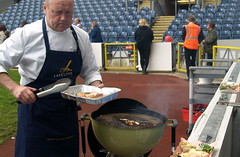 BBQ Competition at the Fantasic Food Show - 6 (Tony Worrall Foto) Tags: show uk people food game fun outdoors northwest candid north cook tasty competition bbq blackburn event eat burn taste cooked char foodie chefs footballstadium weberbarbecue 2013tonyworrall edwoodpark