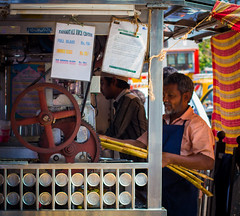 Sugarcane Juicer (tahirkapoor) Tags: india color sweet juice wheels bombay mumbai gears sugarcane