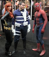 2012-Fans Dressed Up as Black Widow-Nick Fury & Spider-Man at SDCC-01 (David Cummings62) Tags: california ca comics comic sandiego cosplay spiderman blackwidow fans marvel comiccon con marvelcomics cummings nickfury sandiegocomiccon davidcummings davecummings davidcummingsphotos davecummingsphotos