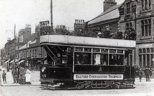 Eccles Cross, Tramcar, c.1903