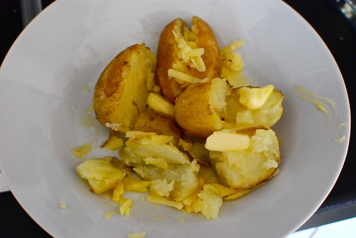 Jersey Potatoes with Jersey Butter and Cheese