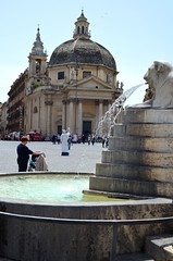 Piazza  del Popolo (David McSpadden) Tags: italy rome fountain egyptianstyle piazzadeipopolo peoplesplaza