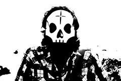 Simone # (i(m)magine.) Tags: bw music white black mask bn e musica napoli naples tre bianco nero bnw maschera ragazzi morti allegri tarm
