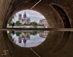 "Under ""La Tournelle"" (A.G. Photographe) Tags: bridge paris france reflection seine french nikon europe reflet ag pont capitale nikkor pniche reflexion barge dri franais hdr parisian anto d800 tournelle xiii parisien 2470 cathdralenotredamedeparis casimodo antoxiii agphotographe"