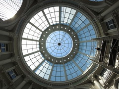 "Dome of shopping mall ""De Passage"" (Henk Koning :: ""The joy of taking pictures ...!"") Tags: blue light beautiful architecture backlight canon mall shopping grey denhaag powershot dome renovation passage thehague henk s100 koning depassage"