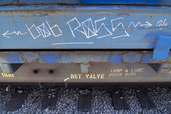 BOB ROSS (TRUE 2 DEATH) Tags: railroad art train graffiti streak tag graf railcar boxcar bobross railways hobo railfan freight freighttrain monikers moniker meanstreaks hobomoniker hoboart benching paintsticks railroadart boxcarart oilbars freighttraingraffiti markals