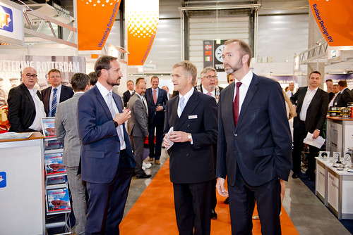 H.R.H. Crown Prince Haakon of Norway at Nor-Shipping 2013