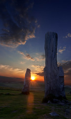 Standing by the Sunset (The Transient Lunatic) Tags: sunset lewis callanish isleoflewis pagan neolithic stonecircle standingstone