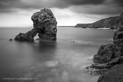 Shot Rock (johnkaysleftleg) Tags: seascape mono le countydurham blackwhile easington shotrock durhamcoast 10stopfilter
