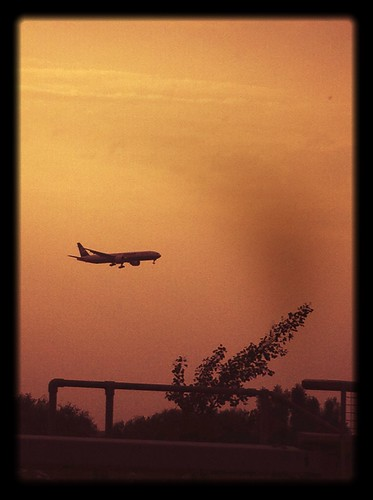 Quick iPhone shot of an airplane.