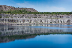 In The Pit (KevinCollins00) Tags: blue sky ontario water clouds reflections nikon wideangle pit mining mines peterborough quarry marmora d7100 marmoramines
