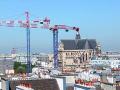 St-Eustache and cranes (Simon_K) Tags: urban paris france high centre center lookingdown pompidou centrepompidou parisian birdseye beaubourg vantage francais pompidoucentre parisien pariswander pariswanderblogspotcouk