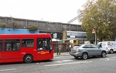 Cambridge Heath Road (Dun.can) Tags: london bus cambridgeheathroad e2 hackney hurwundeki railwaystation station londonbus red