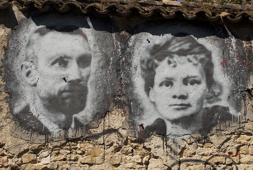 Pierre & Marie Curie, painted portrait DDC_8375006