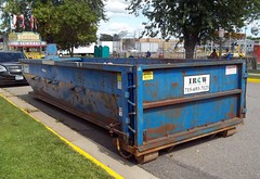 IROW Dumpster. (dccradio) Tags: trees tree festival wisconsin trash dumpster fun tickets marathon fair event entertainment greenery waste recycling wi shredding irow communityevent trashcontainer ticketbox marathoncity ridetickets ridecoupons marathoncityfundays