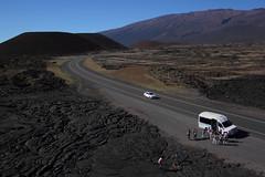 Tourists (TomBenedict) Tags: usa kite canon hawaii lava aerial bigisland kap saddleroad brooxes rokkaku bbkk t2i