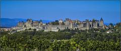Cité médiévale de Carcassonne - Medieval city of Carcassonne (jyleroy) Tags: france castle lumix europe panasonic fortifications aude roussillon carcassonne languedoc remparts battlements châteaufort medievalcity fortifiedcastle citémédiévale citéfortifiée fz200