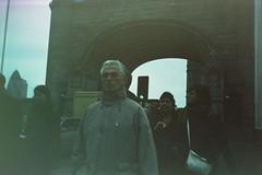 The Man of the Crowd (The New Motive Power) Tags: road bridge people blur london tower film thames analog dark xpro arch symbol kodak grain lofi slide smena  ektachome100