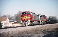New Haven, Indiana (rrradioman) Tags: 2003 santafe march indiana newhaven bnsf 724 in atsf
