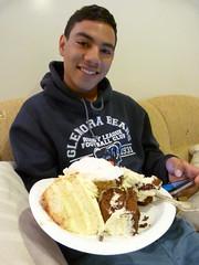 Celebrating two birthdays (Sandy Austin) Tags: birthday newzealand cake dessert grandson auckland northisland shawn massey westauckland sandyaustin panasoniclumixdmcfz40