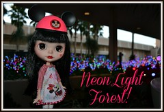 Minnie in the Neon Light Forest!