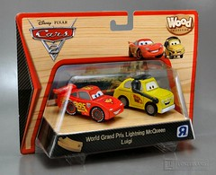 Disney / Pixar ~ WORLD GRAND PRIX LIGHTNING MCQUEEN & LUIGI from Cars 2 WOOD COLLECTION Mint In Box by Toys R Us (LUNZERLAND!) Tags: wood luigi toysrus mib woodentoy woodencar lightningmcqueen mintinbox worldgrandprix toysrusexclusive woodcollection finnmcmissile hollyshiftwell
