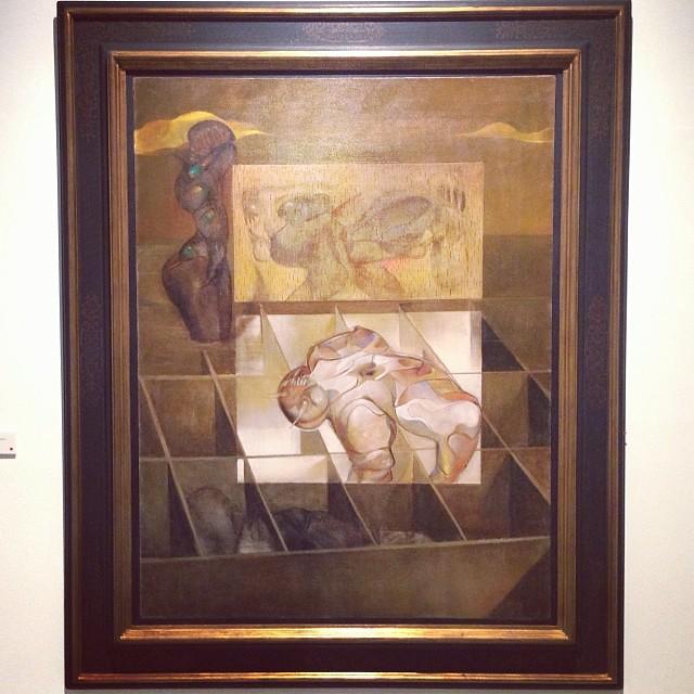 """""""Detrás del ecran"""" 1969 • """"El Pasado Presente"""" de Gerardo Chávez #art #arte #arteenlima #artinlima #artista #artist"""