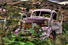 Retired REO Truck at Gold King Mine in Jerome, Arizona in HDR (eoscatchlight) Tags: arizona abandoned rust rusty jerome retired hdr rustyandcrusty reotruck