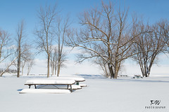 Picnic time at the park Canadian style (pwilliamson222) Tags: park snow canada cold ice canon table picnic 24105
