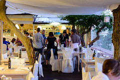 Sirolo (MikePScott) Tags: camera trees italy bar buildings lens restaurant cafe italia bistro pizzeria marche ancona trattoria lemarche builtenvironment sirolo nikon2470mmf28 nikond800 featureslandmarks cateringestablishments