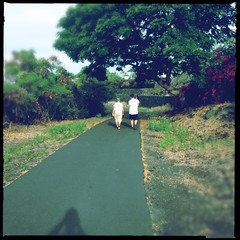 Wailua Nature Trail (pete4ducks) Tags: cameraphone travel winter vacation nature walking outdoors island hawaii jill hiking larry pete bigisland madelyn mady iphone 2014 pete4ducks peteliedtke wailuanaturetrail