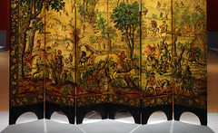 Brooklyn Biombo: Folding Screen with the Siege of Belgrade and Hunting Scene (detail), c. 1697-1701