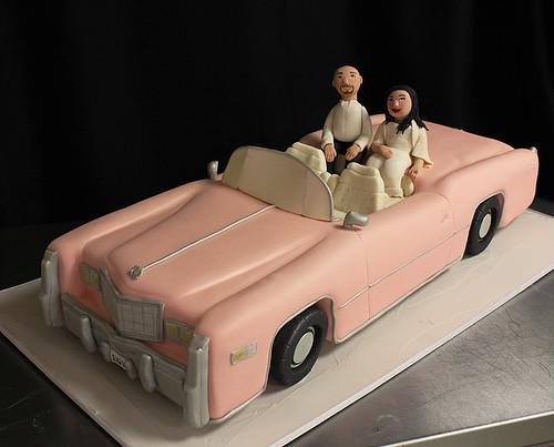 Pink Cadillac Vegas Wedding Cake